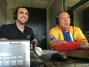 Bees Broadcaster Chris Knoblock and Red Sox Hall of Famer Bernie Carbo